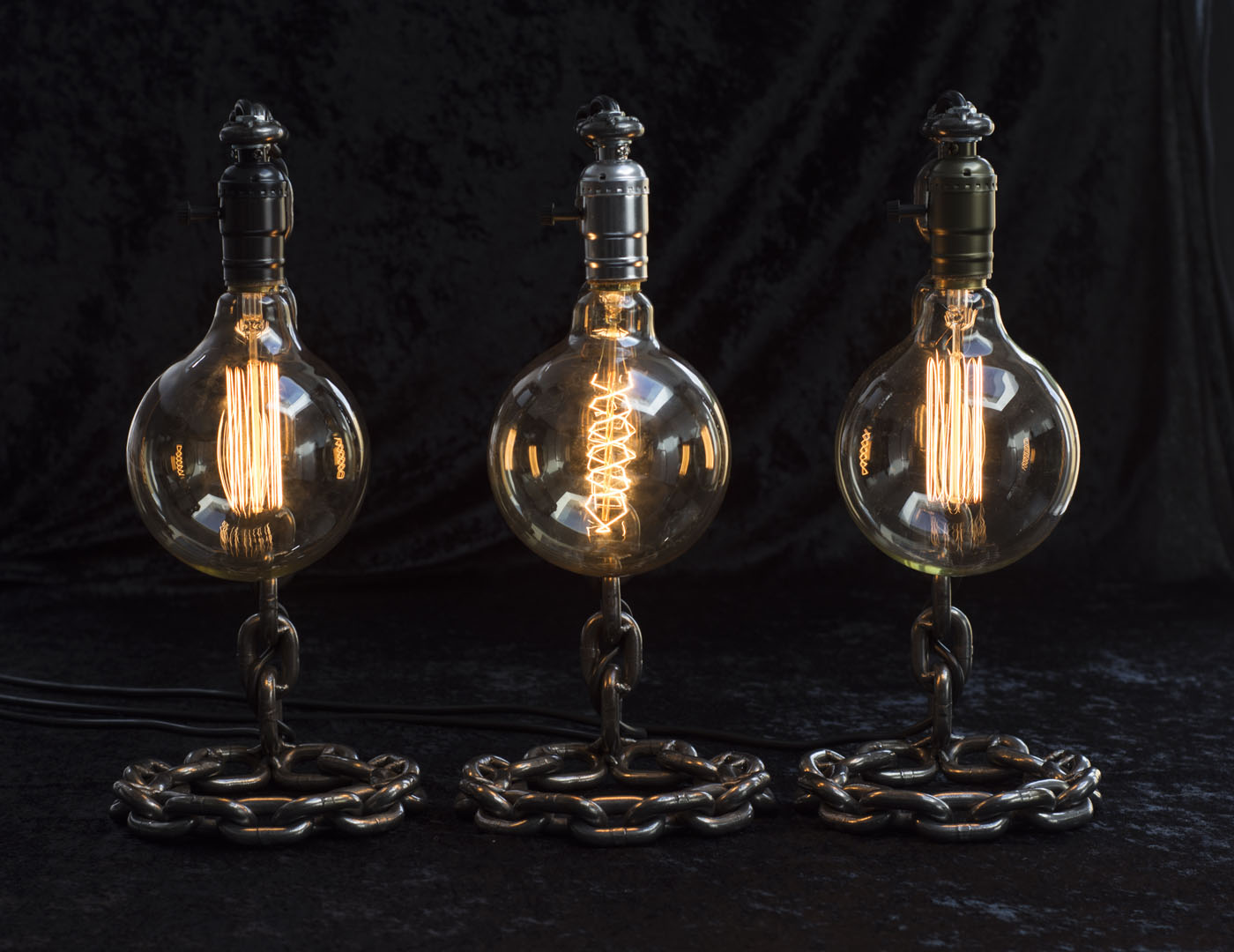 retro and rustic lamps photography